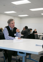 Shawnee Mission students had the chance to sit down with professional engineers and ask them about their careers.