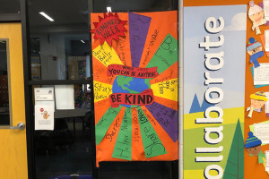A Kindness Challenge display at Briarwood Elementary. Photo via Principal Chris Lash on Twitter.