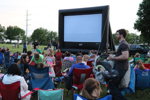 Movie in the Park in Lenexa. Photo courtesy Lenexa Parks and Recreation.