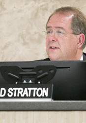 Board of Education President Brad Stratton.