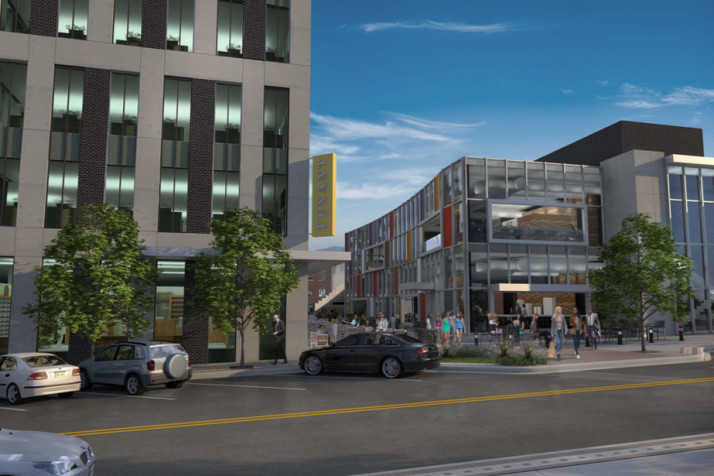 A rendering of the proposed Edison development in downtown Overland Park.