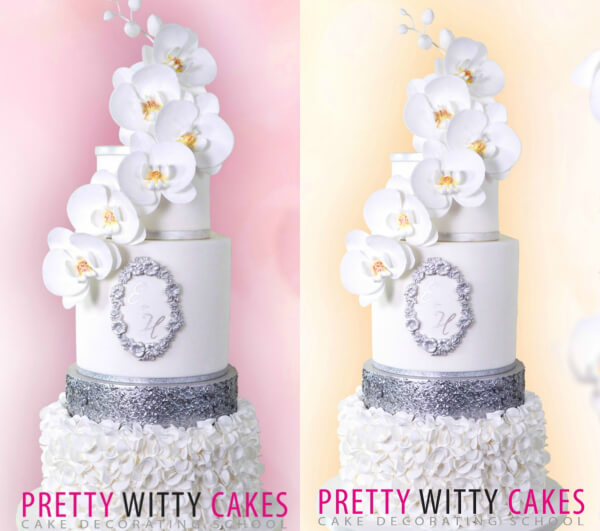 Background colour on cake photos