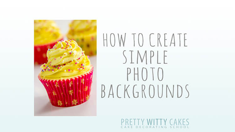 How to create simple photo backgrounds at Pretty Witty Academy