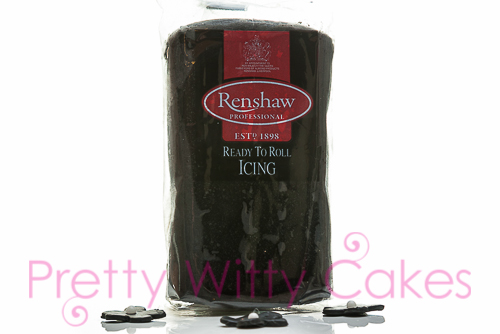 Renshaws Black Fondant at Pretty Witty Cakes