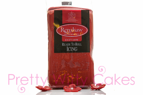Renshaws Red fondant at Pretty Witty Cakes