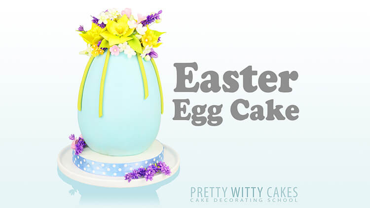 3d Easter Egg Cake tutorial at Pretty Witty Academy