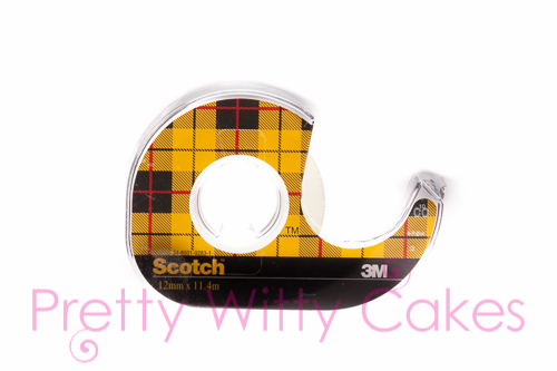 Double sided tape for cakes at Pretty Witty CAkes