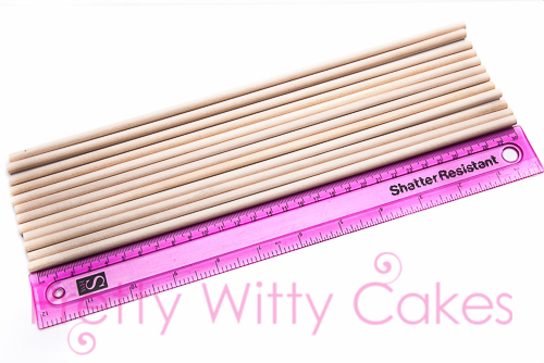 Dowels for cake makers at Pretty Witty Cakes