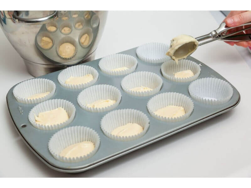25. You will have enough batter for 24 cupcake cases if you are using the Cupcake Cases that we sell.