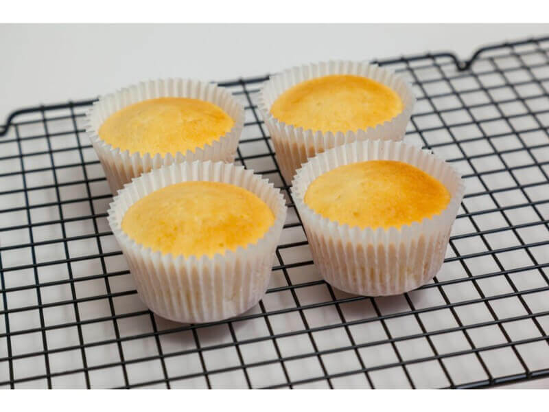 33. Your finished cupcakes should look like this. By being flat topped you can flat ice them (see the Video on Flat Icing cupcakes)