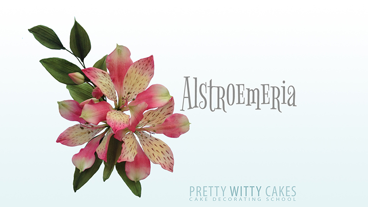 How to make alstroneria flowers tutorial at Pretty Witty Academy