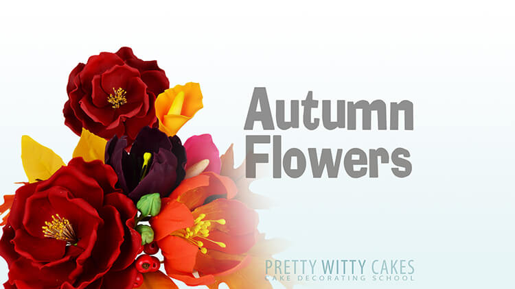 How to make autumn flowers tutorial at Pretty Witty Academy