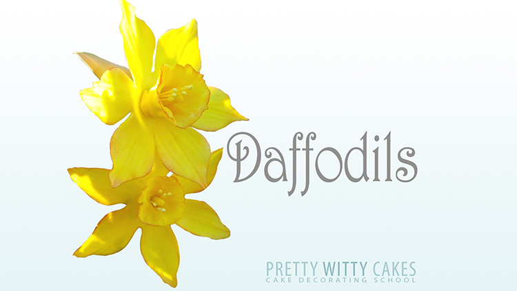How to make daffodil flowers tutorial at Pretty Witty Academy