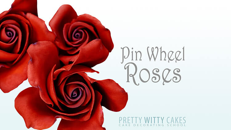 How to make Pin Wheel roses at Pretty Witty Academy