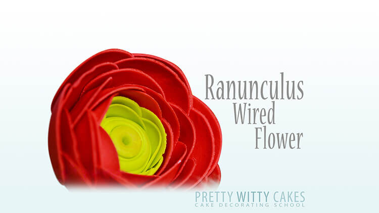 How to make ranunculus flowers tutorial at Pretty Witty Academy