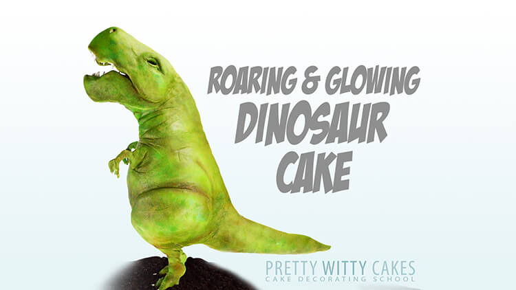 Airbrushing a Dragon cake tutorial at Pretty WItty Academy