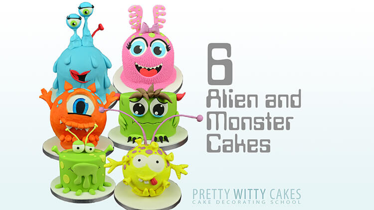 How to make monsters and aliens cakes