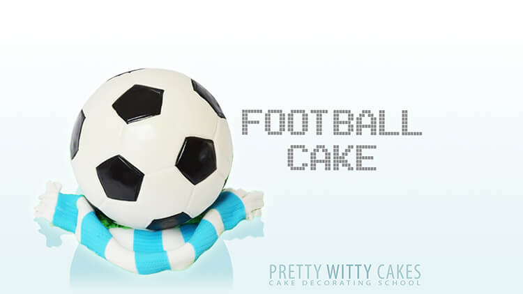 How to cover a football cake