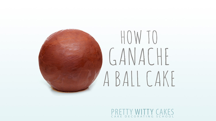 How to ganache a ball shape cake
