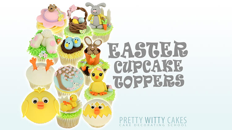 How to you make Easter Cupcake toppers - cake tutorial at Pretty Witty Academy