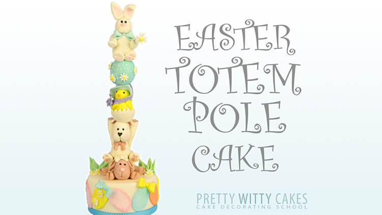How to make totem pole cakes and easter cakes - tutorial at Pretty Witty Academy