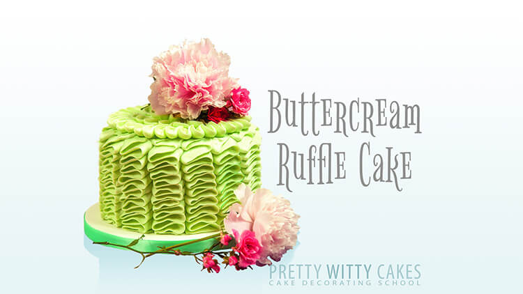 How to make a buttercream ruffle cake at Pretty Witty Academy