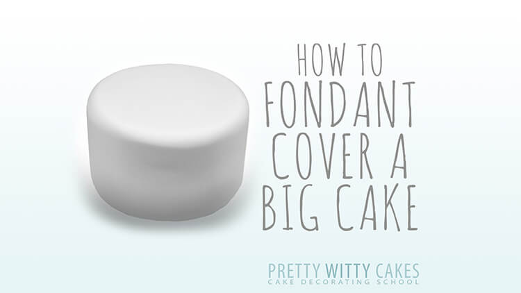 HOw to cover a big cake in fondant free tutorial