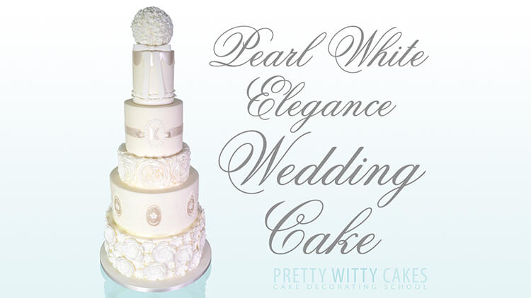 Learn how to make a ruffle white wedding cake at Pretty Witty Academy