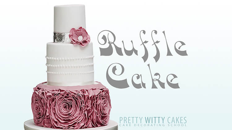 Learn how to make a ruffle cake at Pretty Witty Academy