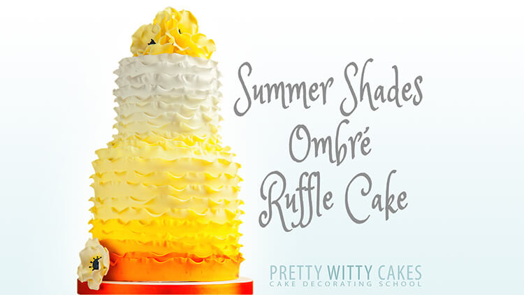 HOw to make a yellow ruffle cake at Pretty Witty Academy