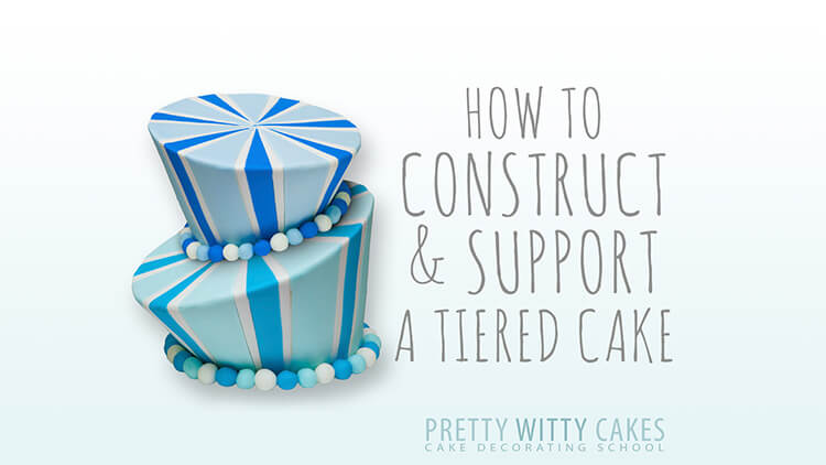 How do I construct and support a wonky cake