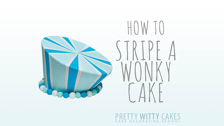 How do I add stripes to a Wonky Cake