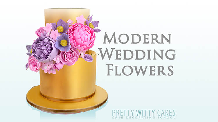 Modern Wedding Flowers at Pretty Witty Academy