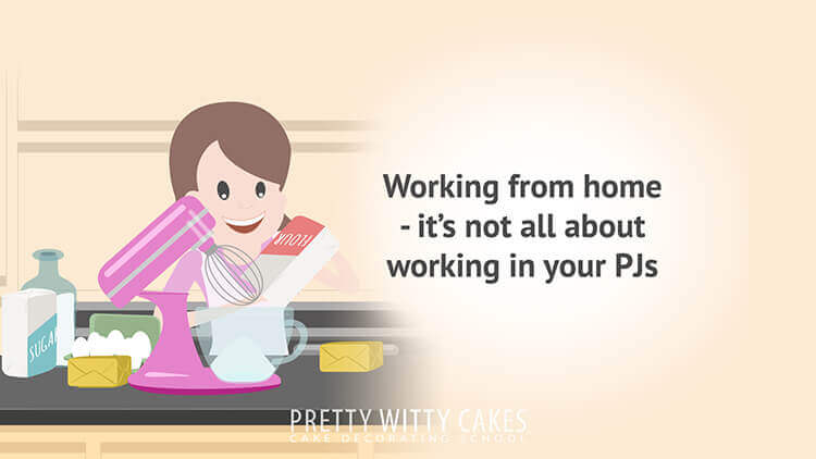 Working From Home - tutorial at Pretty Witty Academy