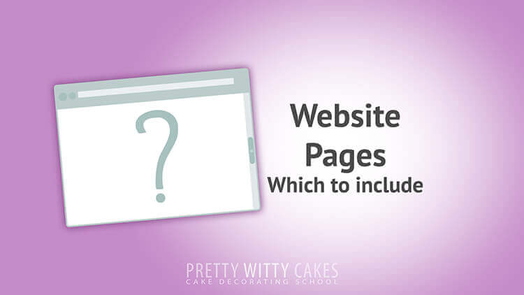 Website Pages  - tutorial at Pretty Witty Academy