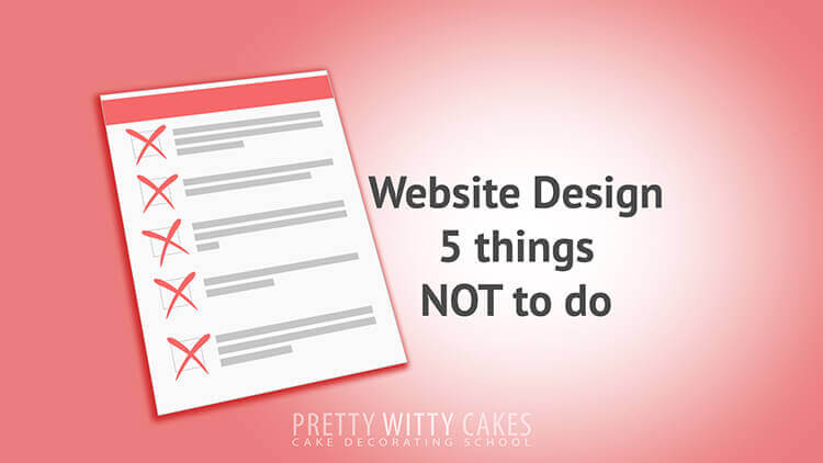 Website Design - tutorial at Pretty Witty Academy