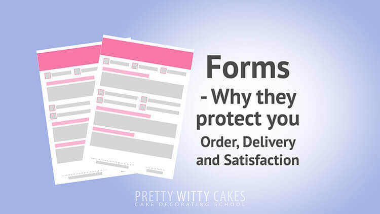 Cake Forms - tutorial at Pretty Witty Academy