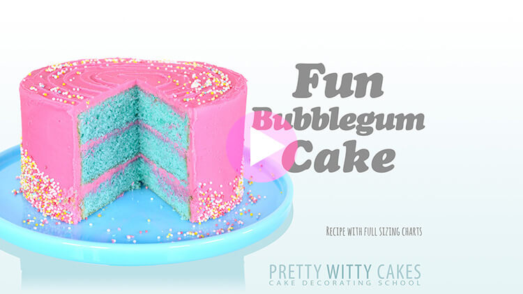 Bubblegum Cake Preview at Pretty Witty Cakes