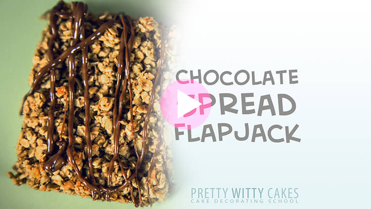 Chocolate Spread Flapjack at Pretty Witty Cakes