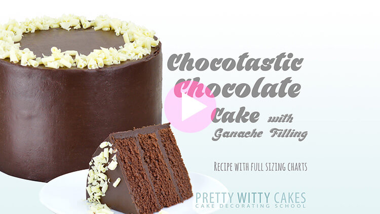 Chocotastic Chocolate Cake tutorial at Pretty Witty Cakes