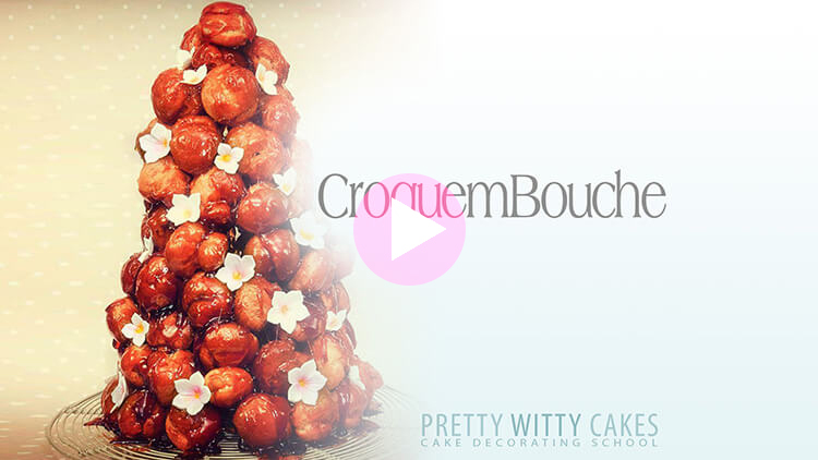 CroqueBouche Recipe and Tutorial at Pretty Witty Cakes