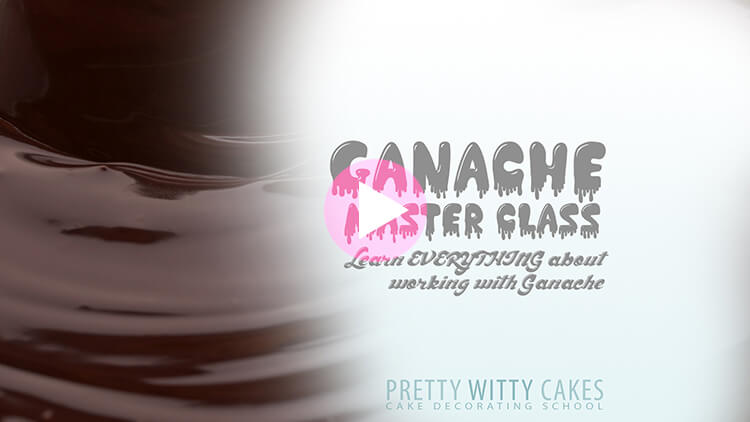 Ganache Master Class tutorial at Pretty Witty Academy