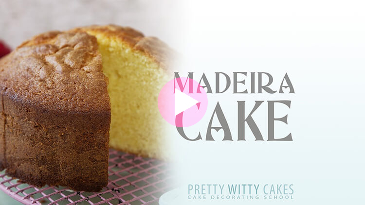 Madeira Cake Recipe and Tutorial at Pretty Witty Academy
