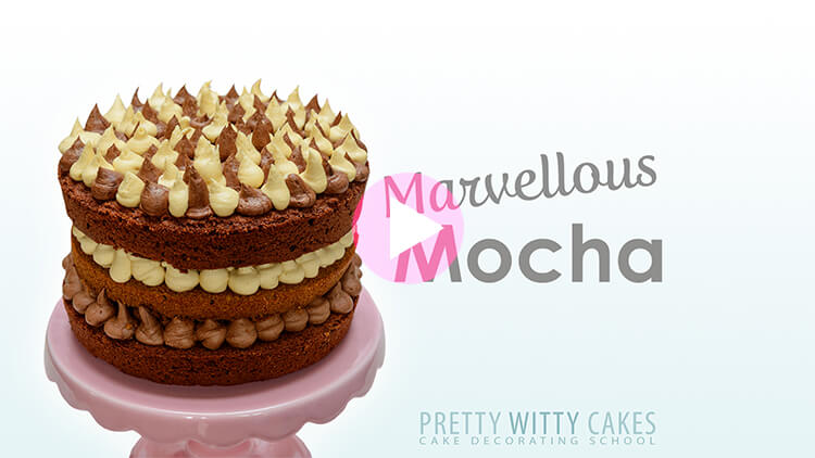 Marvellous Mocha Cake at Pretty Witty Cakes