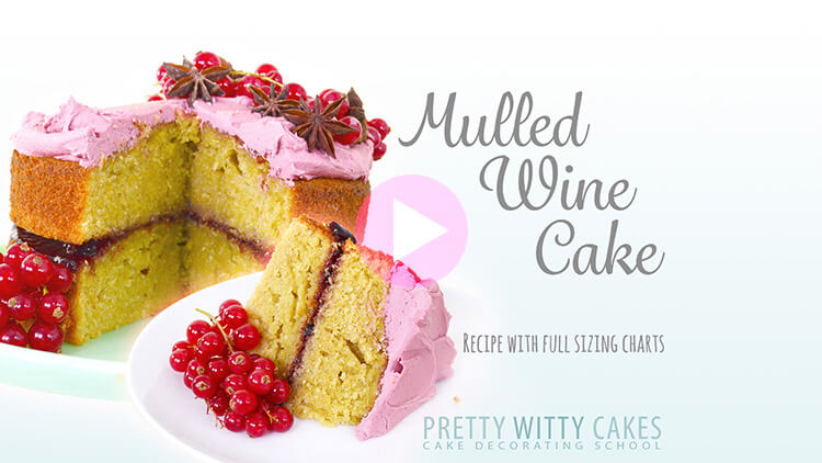 Mulled Wine Cake tutorial at Pretty Witty Cakes