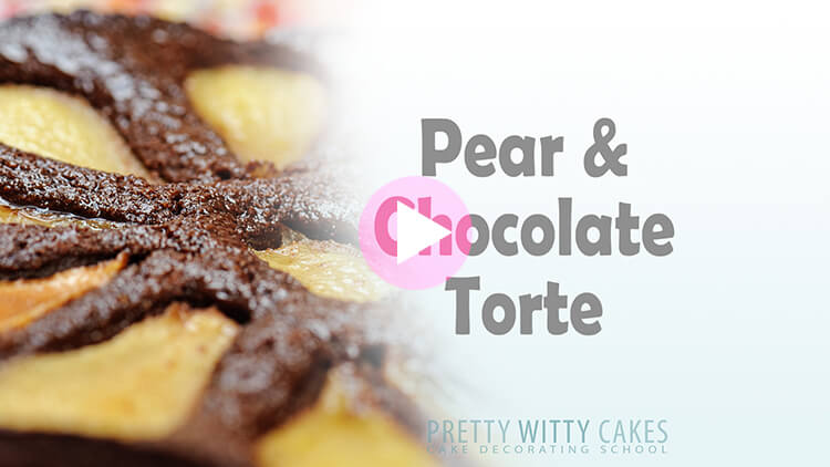 Pear and Chocolate Torte tutorial at Pretty Witty Cakes