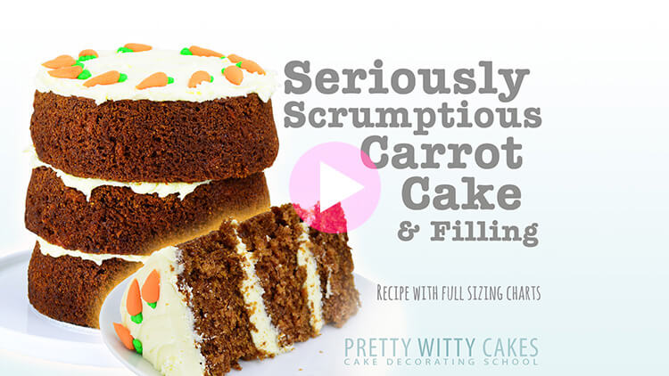 Seriously Scrumptious Carrot Cake tutorial at Pretty Witty Cakes