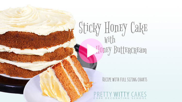 Sticky Honey Cake tutorial at Pretty Witty Academy