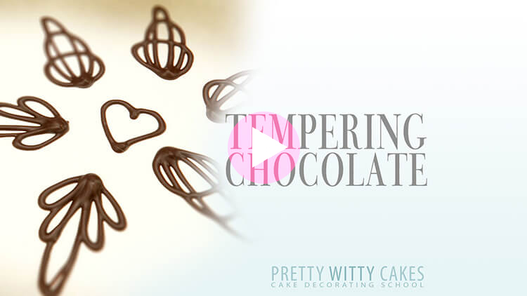 Tempering Chocolate Tutorial at Pretty Witty Academy