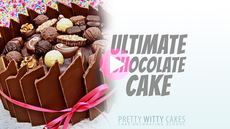 Ultimate Chocolate Cake Tutorial with Jo Wheatley at Pretty Witty Cakes